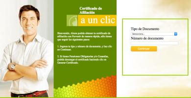 porvenir certificado
